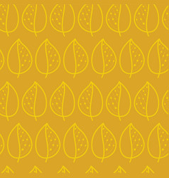 leaves golden yellow on mustard pattern vector image
