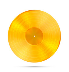 lp gold record icon gramophone music object vector image