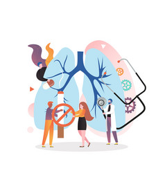 lung health checkup concept for web banner vector image