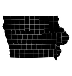 map of iowa vector image