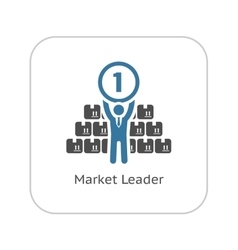 market leader icon business concept flat design vector image