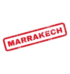Marrakech rubber stamp vector