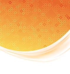 Modern orange tile folder background template vector