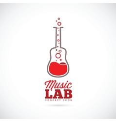 Music laboratory concept icon vector image