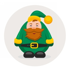 New year and Christmas adult dwarf vector