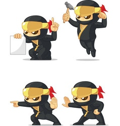 Ninja customizable mascot 4 vector