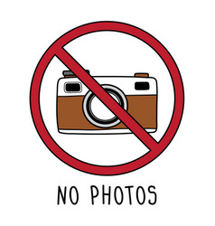 no photo symbol sign doodle hand drawing vector image