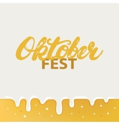 oktoberfest hand written calligraphy lettering vector image