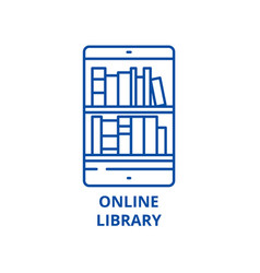 online library line icon concept online library vector image