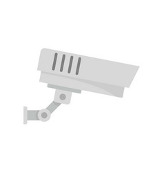 outdoor security camera icon flat style vector image