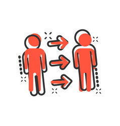people referral icon in comic style business vector image