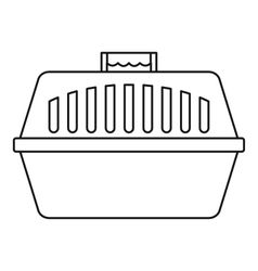 Pet carry case icon outline style vector