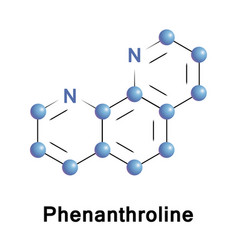 Phenanthroline heterocyclic organic compound vector