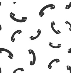 phone contact support service seamless pattern vector image