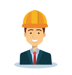 Professional construction man character vector