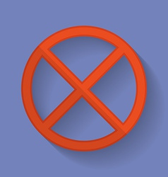 Prohibition sign flat icon vector