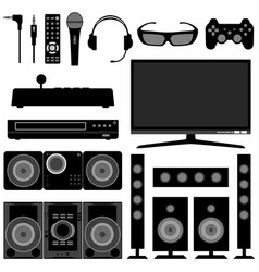 Radio television system electronic appliances vector