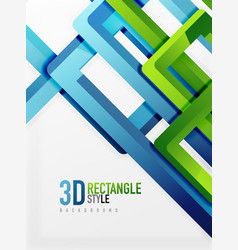 rectangle tube elements background vector image