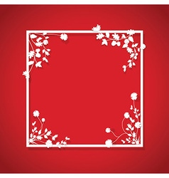 Red floral box vector