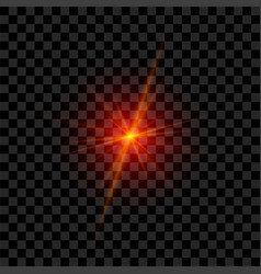 Red laser glowing in realistic style vector