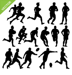 rugplayer silhouettes vector image