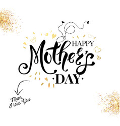 sentimental black white and gold mothers day card vector image