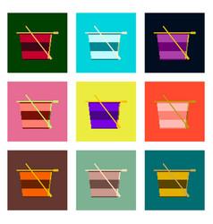 Set pixel icons of tea cup vector