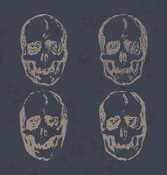set skulls isolated on background vector image