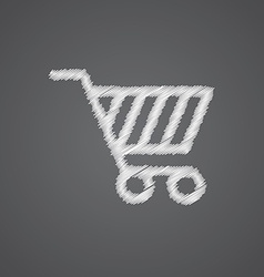 shopping cart sketch logo doodle icon vector image