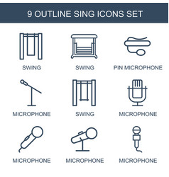 Sing icons vector