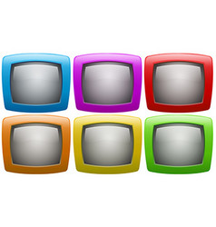 Six television screen in colors vector