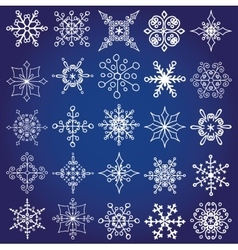 Snowflakes shapes big setChristmaswinter decor vector