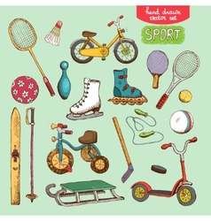 sport toys set vector image