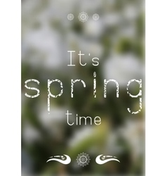 Spring print - spring time vector image