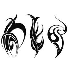 Styled decorative tattoo vector image