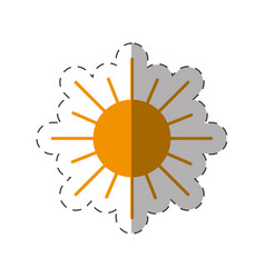 Sun energy natural icon vector