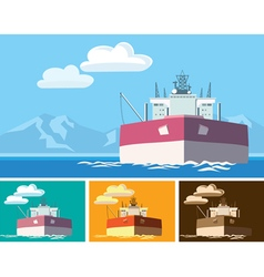 tanker vector image