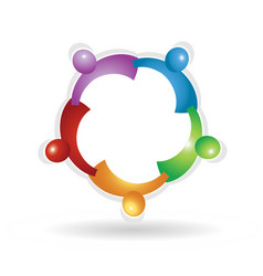 Teamwork social people icon vector