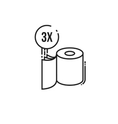 Three-ply toilet paper icon vector