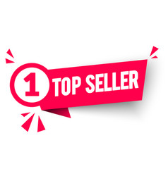 top seller label modern web banner number one vector image