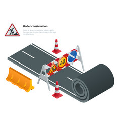 under construction of road under construction vector image