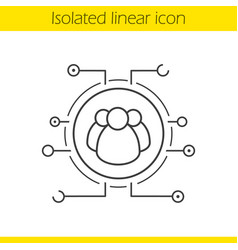 User group linear icon vector
