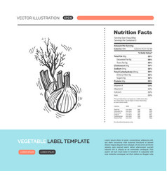 Vegetable concept vector