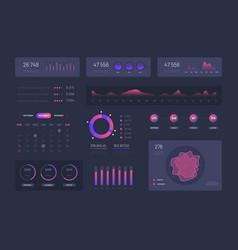 Visual data graphics control admin panel vector