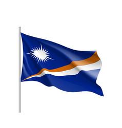 Waving flag of marshall islands vector