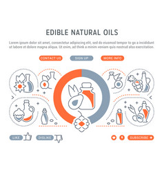 website banner and landing page edible natural vector image
