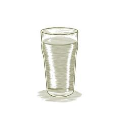 woodcut beer glass vector image
