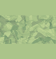 abstract topographic map in green colors vector image