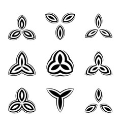 creative simple logos set black symbols for vector image