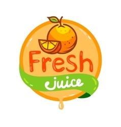 fresh juice emblem 3 vector image